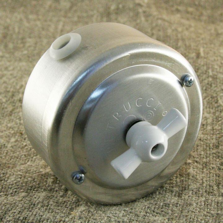 Выключатель двухклавишный алюминиевый поворотный