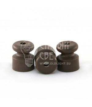 Изолятор пластиковый коричневый