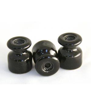 Изолятор фарфоровый чёрный универсальный