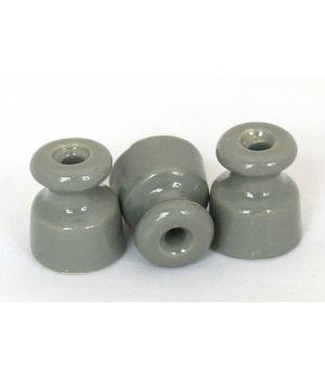 Изолятор фарфоровый серый универсальный