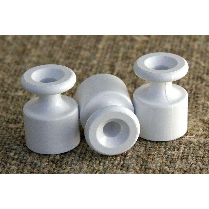 Ретро изолятор пластиковый белый