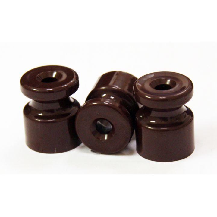 Ретро изолятор пластиковый коричневый