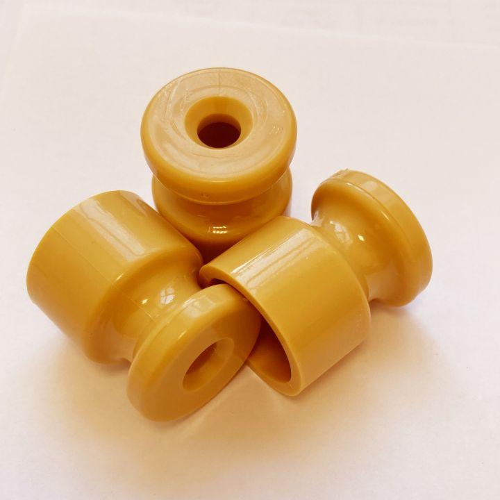 Ретро изолятор пластиковый желтый