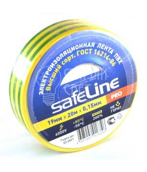 Изолента Safeline желто-зеленая