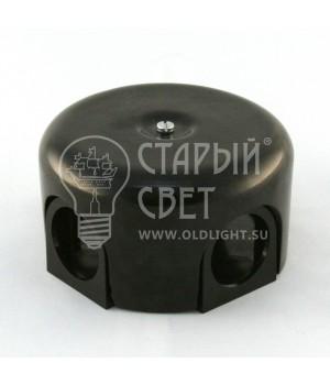 """Распределительная коробка фарфоровая черная """"Bironi"""""""