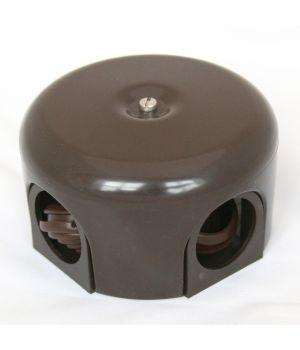 """Распределительная коробка 78 мм пластиковая коричневая """"Bironi"""""""