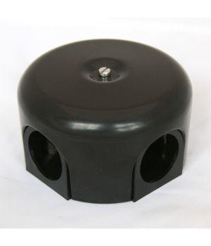 """Распределительная коробка 78 мм пластиковая черная """"Bironi"""""""