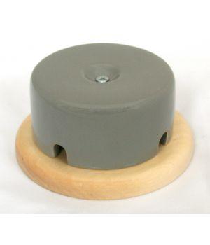 Распределительная коробка фарфоровая серая