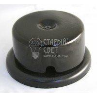 Распределительная коробка фарфоровая черная Старый Свет