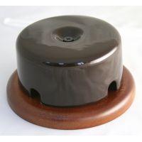 Распределительная коробка фарфоровая коричневая Старый Свет