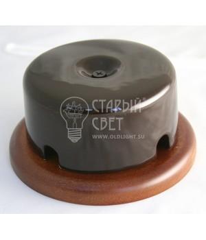 Распределительная коробка фарфоровая коричневая
