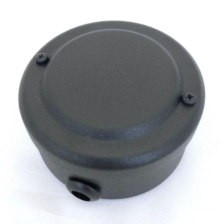 Ретро распределительная коробка стальная окрашенная в черный цвет