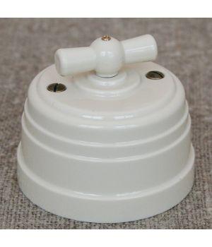 Выключатель на 4 положения бежевый пластиковый Усадьба