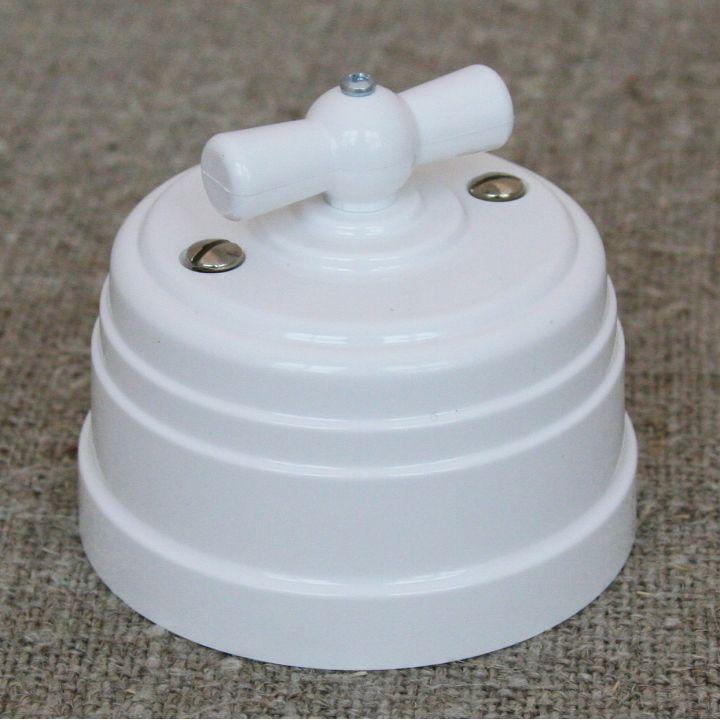 Выключатель на 4 положения белый пластиковый Усадьба