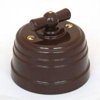 Выключатель на 4 положения коричневый пластиковый Усадьба