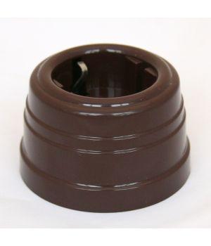 Розетка пластиковая коричневая Усадьба