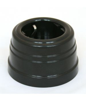 Розетка пластиковая черная Усадьба