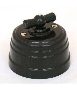 Выключатель на 4 положения черный пластиковый Усадьба