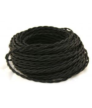 Провод витой 2х1,5мм² черный