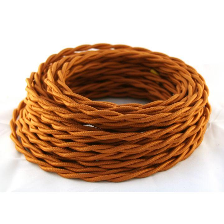 Ретро провод витой 2х1,5мм² медного цвета