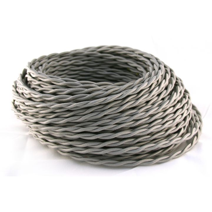 Провод витой 2х2,5мм² серый