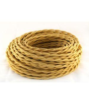 Провод витой 2х1,5мм² золотистый