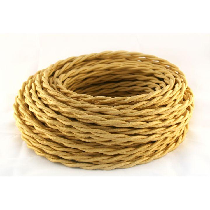 Провод витой 2х2,5мм² золотистый