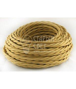 Провод витой 3х2,5мм² золотистый