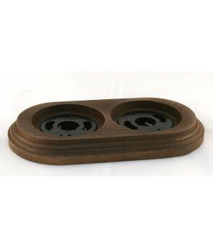 """Рамка деревянная двухместная """"Старое дерево"""". Материал - бук."""