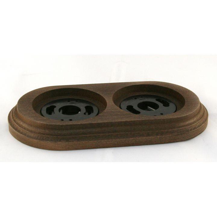 """Рамка деревянная двухместная """"Старое дерево"""". Материал - бук"""