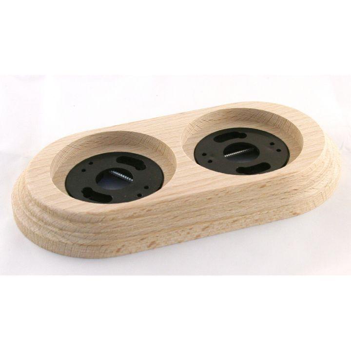 """Рамка деревянная двухместная """"Натурель"""". Материал - бук"""