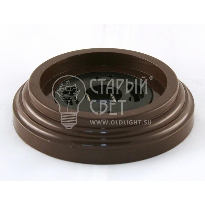 """Рамка пластиковая одноместная """"Bironi"""". Цвет - коричневый"""