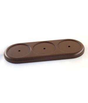 """Рамка деревянная трехместная """"Vintage"""". Цвет - коричневый"""
