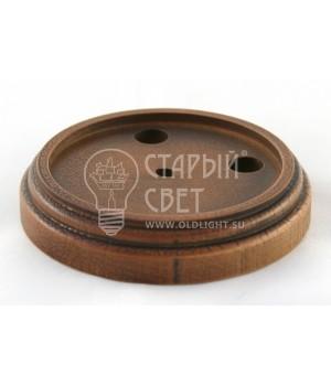 """Рамка деревянная одноместная """"Дуб почтенный"""" (для изделий из латуни)."""