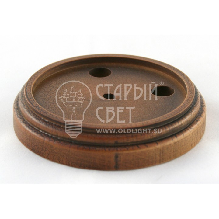 """Рамка деревянная одноместная """"Кракелюр"""" (для изделий из латуни)."""