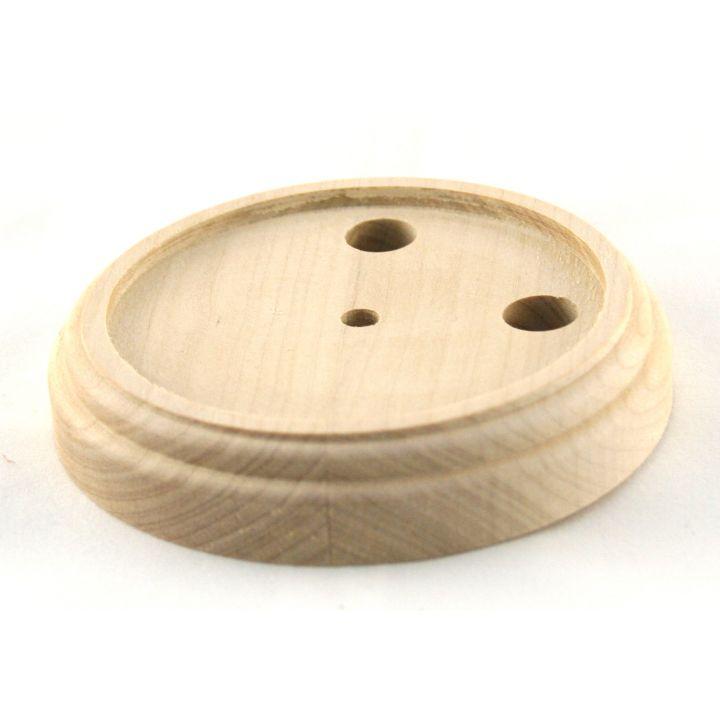 Рамка деревянная одноместная без покрытия (для изделий из латуни)