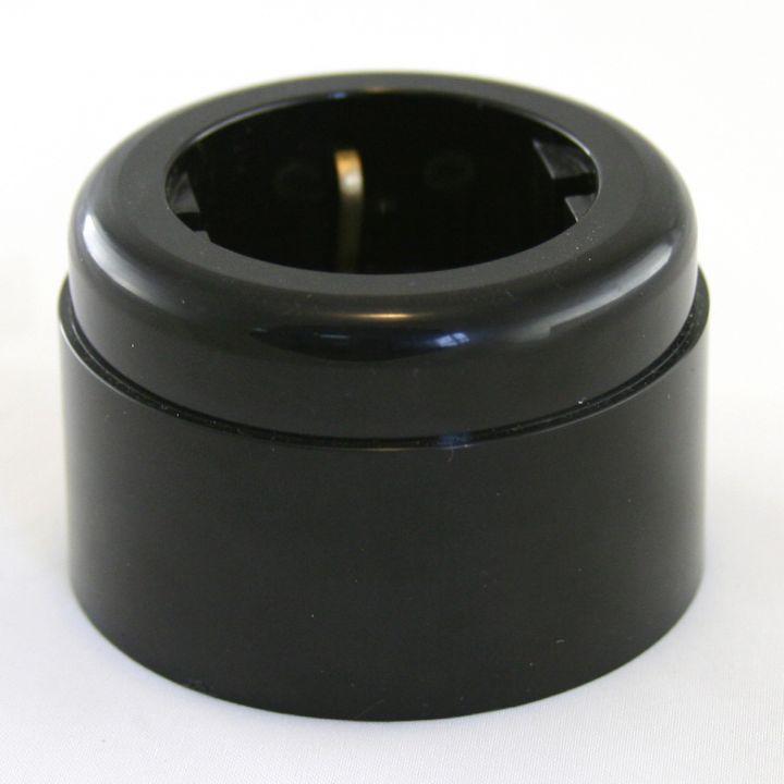 Розетка пластиковая черная Vintage