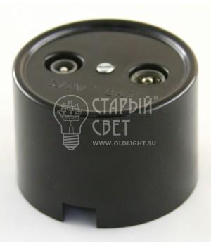 """Розетка TV/R-Sat пластиковая черная """"Bironi"""""""