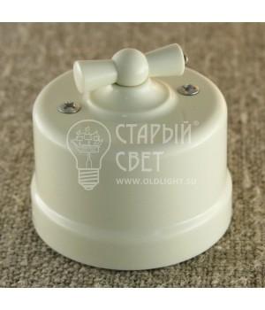 """Выключатель двухклавишный пластиковый """"Bironi"""" бежевый"""