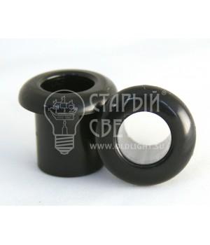 """Втулка пластиковая """"Бирони"""" для открытой проводки черная"""