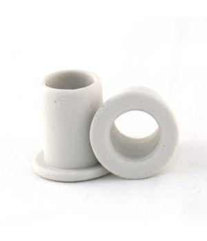 Втулка фарфоровая для открытой проводки белая