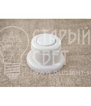 Выключатель одноклавишный пластиковый Vintage, серый