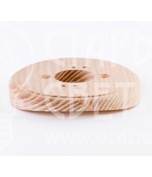 Рамка на оцилиндрованное бревно деревянная одноместная. Ясень.