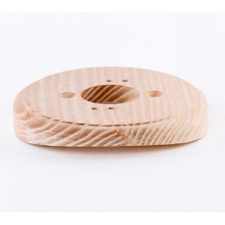 Рамка на оцилиндрованное бревно деревянная одноместная. Ясень