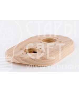 Рамка на оцилиндрованное бревно деревянная на 2 места. Ясень.