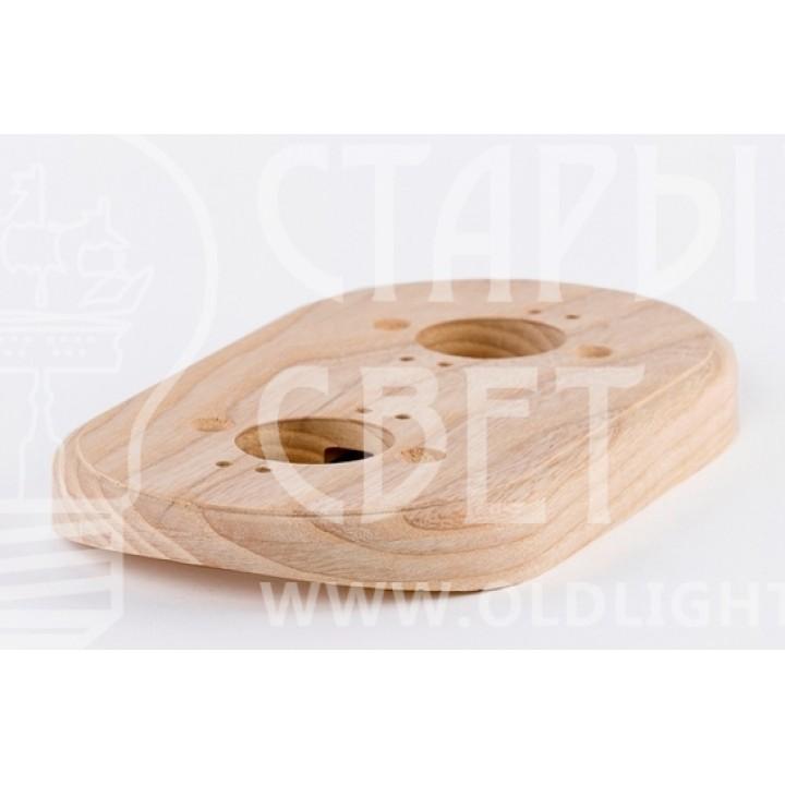 Рамка на оцилиндрованное бревно деревянная на 2 места. Ясень