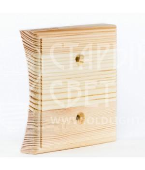 Рамка на оцилиндрованное бревно деревянная одноместная. Сосна.