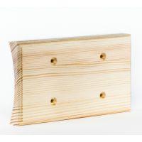 Рамка на оцилиндрованное бревно деревянная на 2 места. Сосна