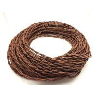 Провод витой 2х1,5мм² коричневый