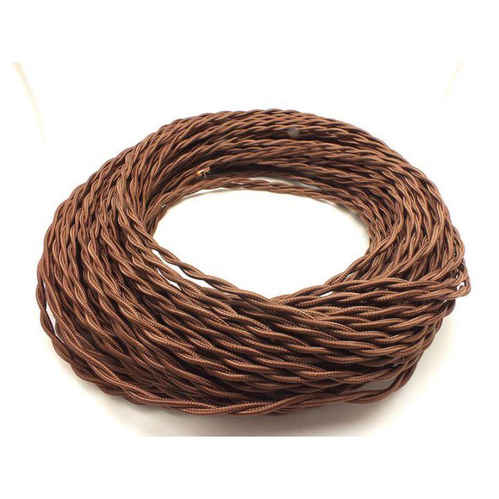 Ретро провод витой 2х1,5мм² коричневый